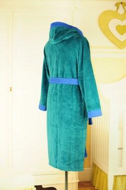 28dab52d0a42 Купить махровый халат мужской синий в Киеве (бамбук+микрофибра ...
