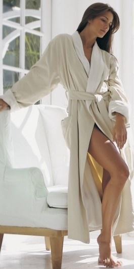 длинный халат для сауны