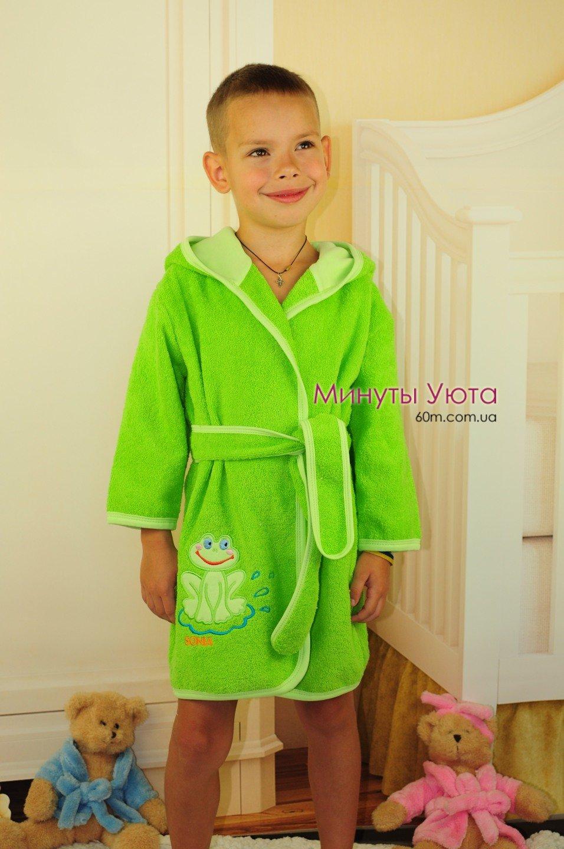 b6aeb206697ce Купить махровый халат детский зеленый в Днепре (хлопок, Соня ...