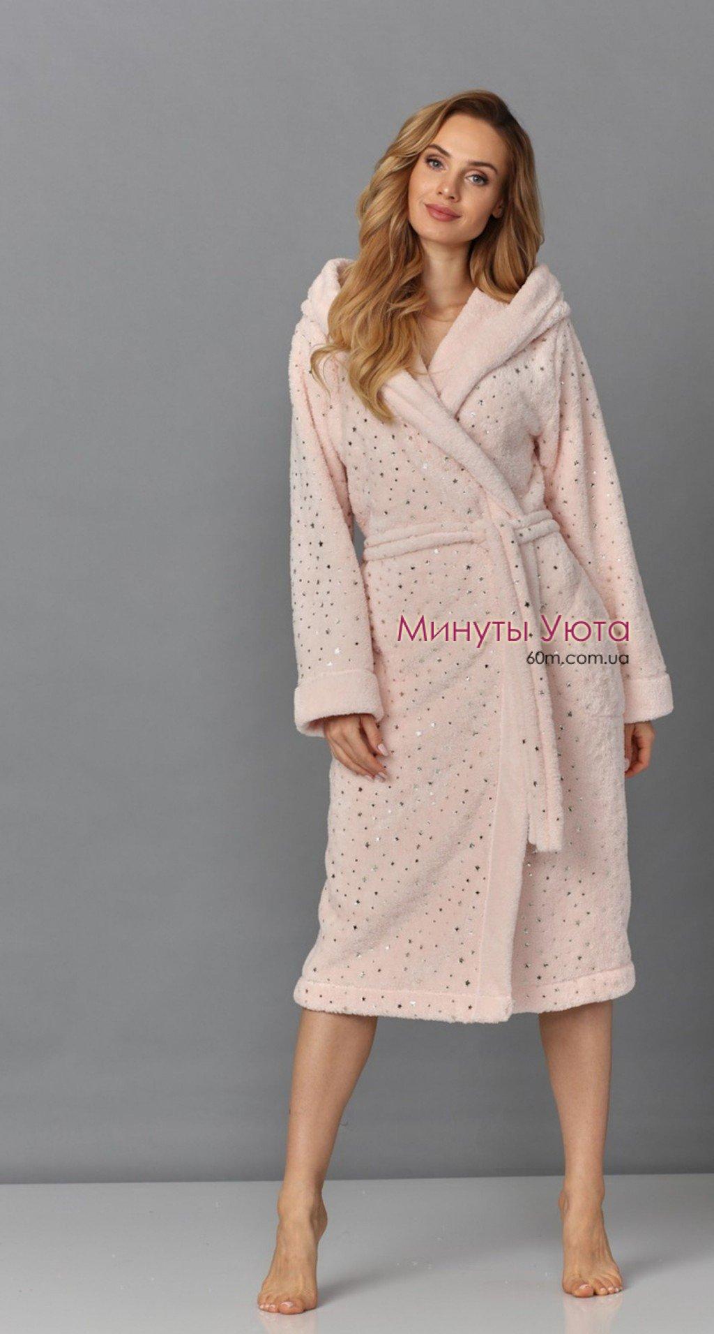 92b509a03e3c Купить махровый халат женский розовый в Киеве (микрофибра, L&L ...