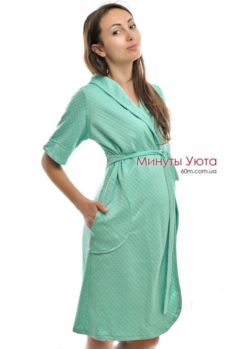 Зелений капітон жіночий халат (віскоза cbee6fe3f48f0