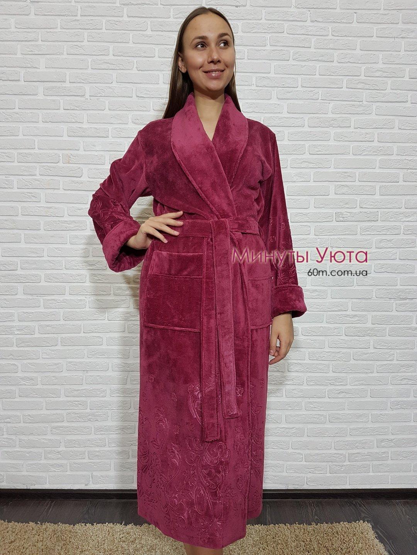 4138acac83f84 Купить махровый халат женский фиолетовый в Киеве (бамбук, Nusa ...