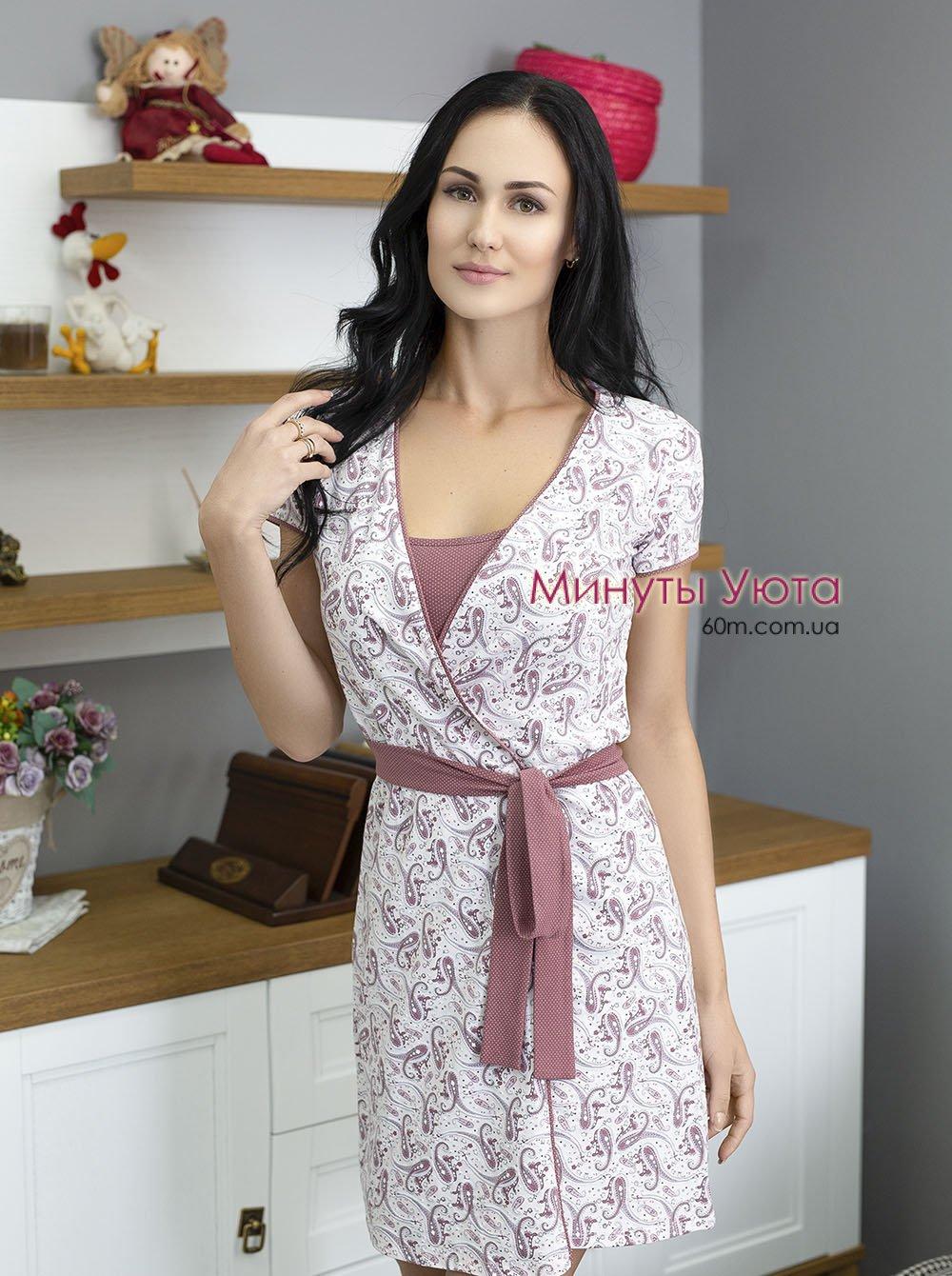 d8af8e01e9a5 Белый халат трикотажный женский купить в Харькове (Роксана, хлопок+ ...