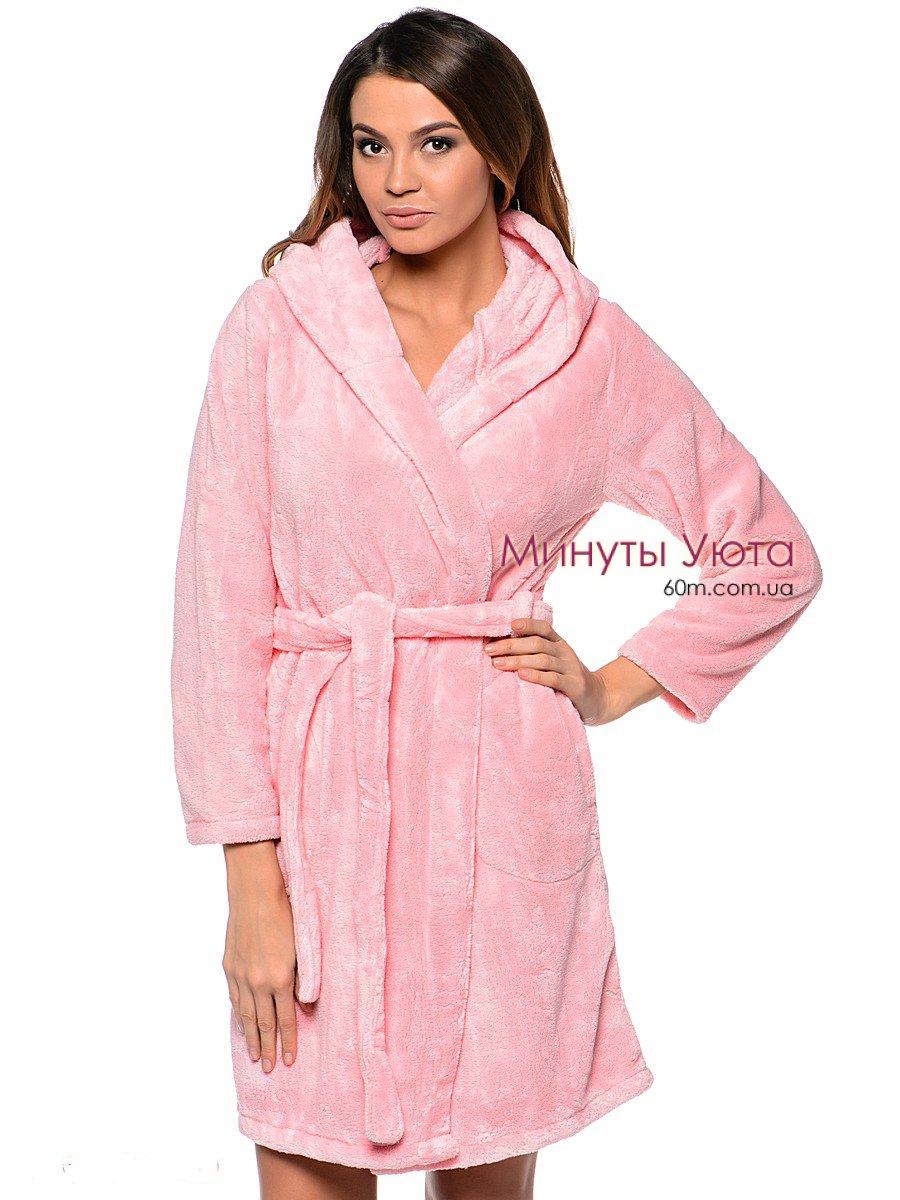 2d637569abe8 Купить махровый халат женский розовый в Днепре (микрофибра, Vienetta ...