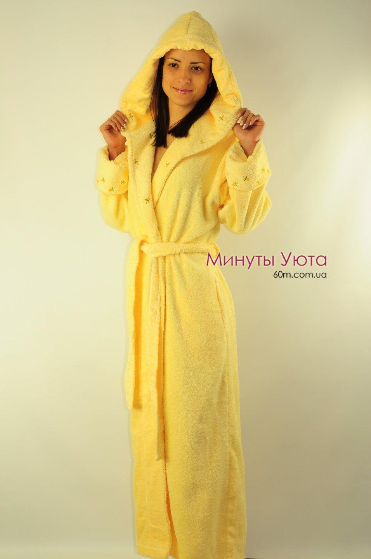 bca2b5b4a8aa7 Желтый махровый женский халат (хлопок, Virginia Secret, Турция ...