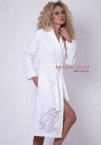 fbb0f4157aff1 Купить белый женский махровый халат фирмы Virginia Secret (Турция ...