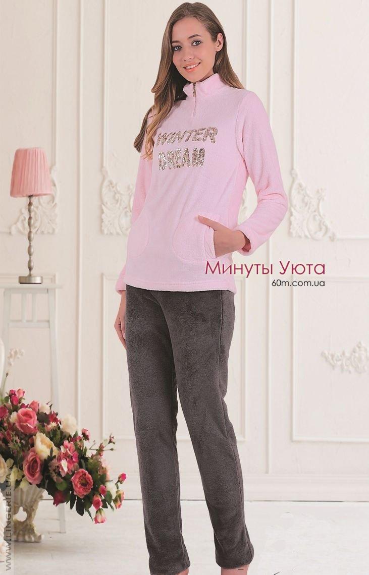 c2d0614bd8cdf Женская махровая пижама, цвет розовый. Производитель пижамы - Cocoon ...