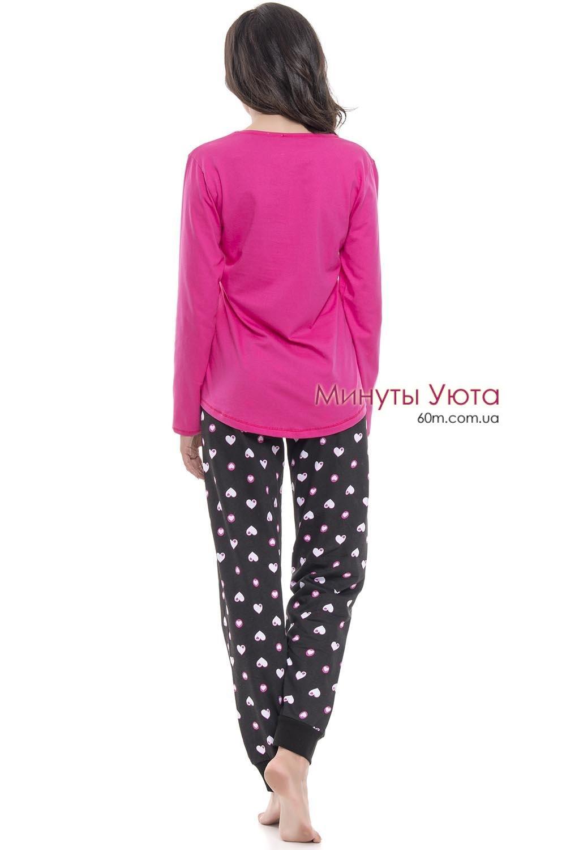 Яркая хлопковая пижама в сердечках Dobra Nochka ... c8d17995b0937