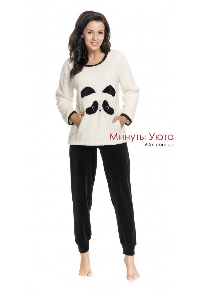 Плюшевая пижама с велюровыми штанами Панда Dobra Nochka 12f48893581fc