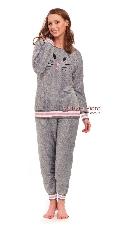 М яка махрова піжама в сірому кольорі купити Київ 05eeac2e71e65