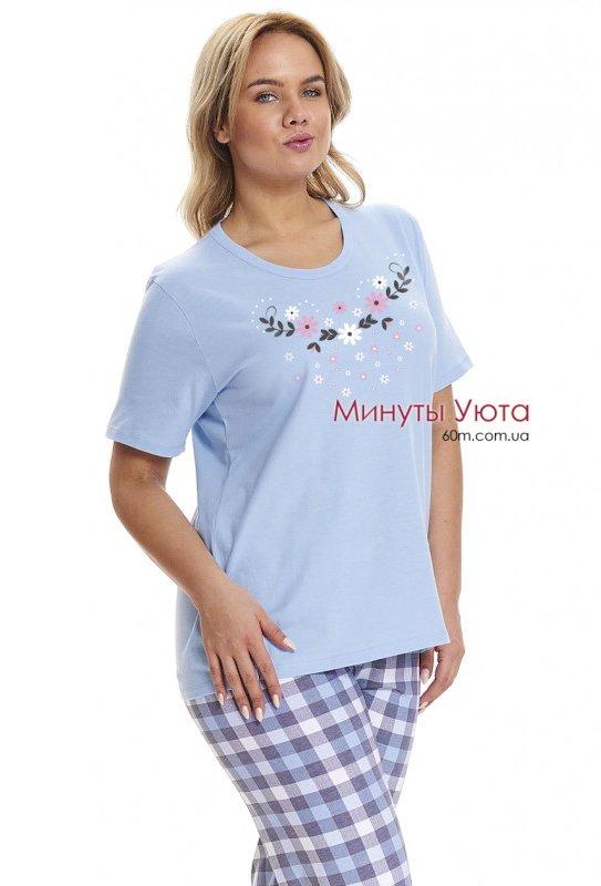 Хлопковая пижама в нежно-голубом цвете купить Киев 7c3cd9f966c56