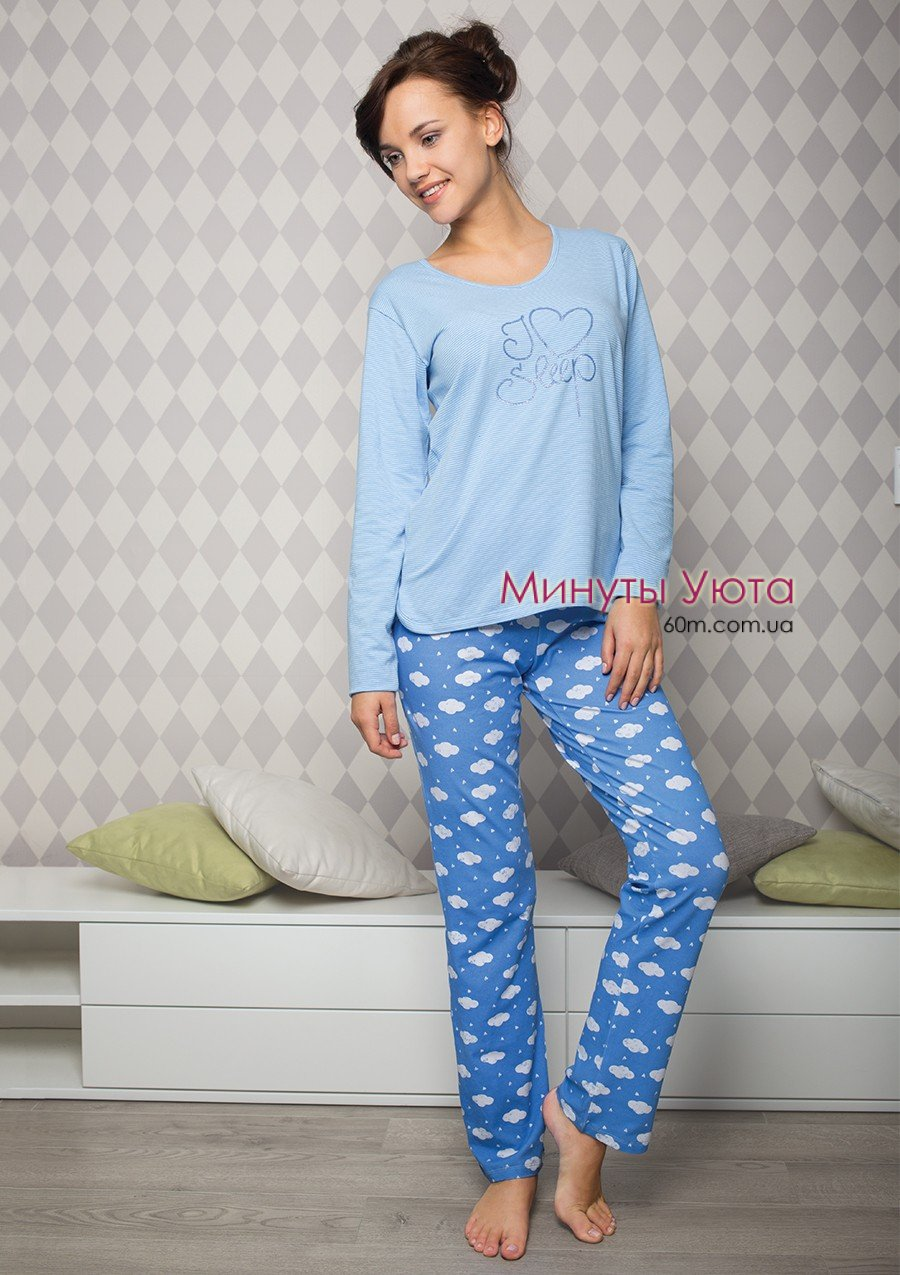 Хлопковая пижама с облаками Key 539477d8eadd6