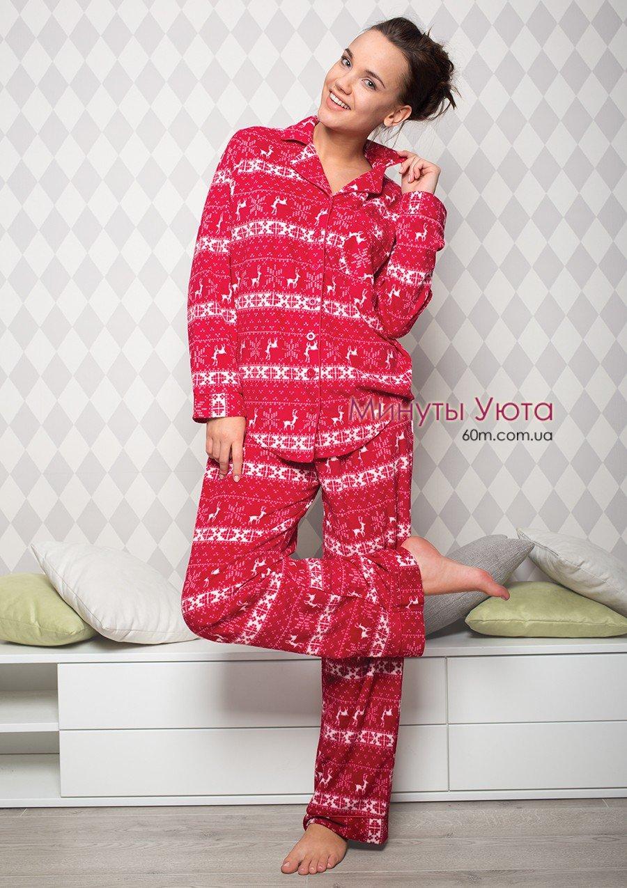 Женская пижама на пуговицах из мягкой ткани - купить fc1d4033a6a90
