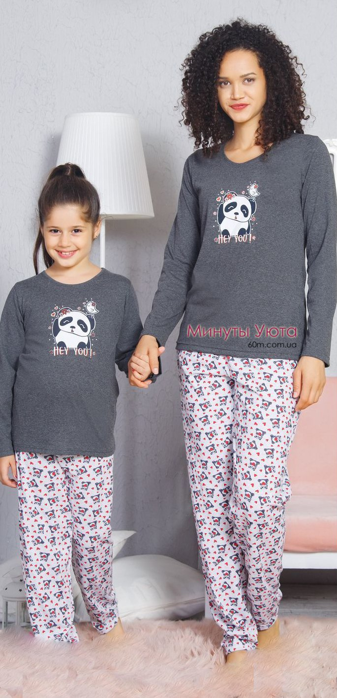 Серая пижама с пандой Vienetta Secret d7b9434bbda32